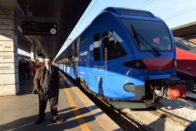Renato Chisso alla presentazione dei nuovi treni regionali