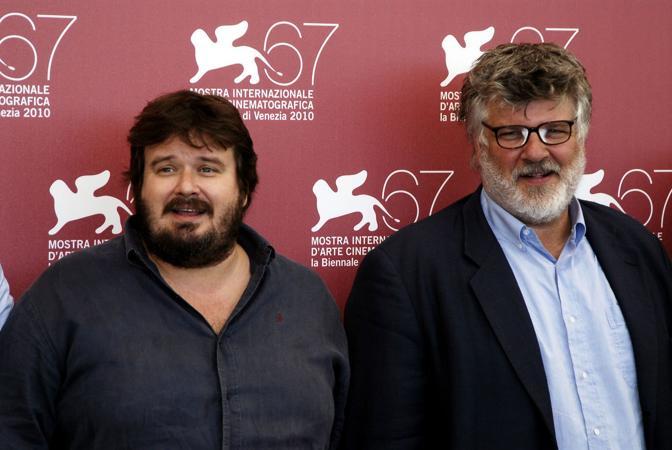 Carlo Mazzacurati a Venezia con Giuseppe Battiston per