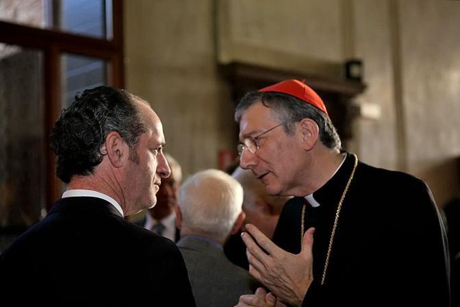 Il presidente della regione del Veneto Luca Zaia col patriarca Francesco Moraglia