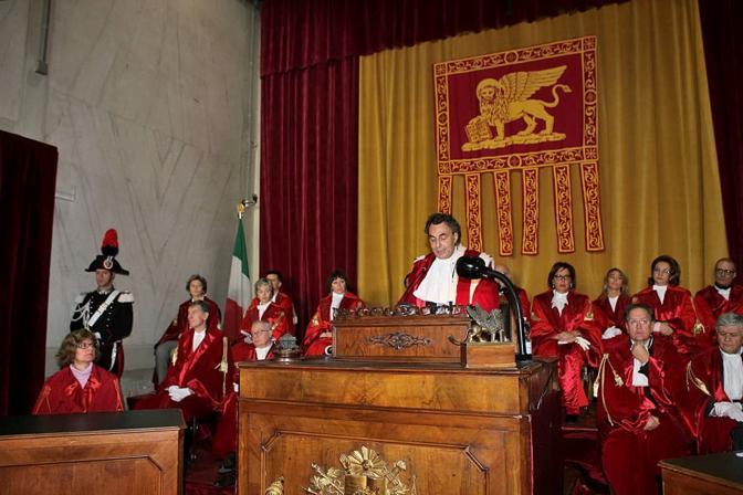 Il presidente della Corte d'Appello Antonino Mazzeo Rinaldi