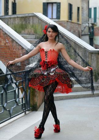Decimaria Viana, 24 anni, modella Brasiliana la più bella del carnevale di Bahia alla Fenice per la Cavalchina