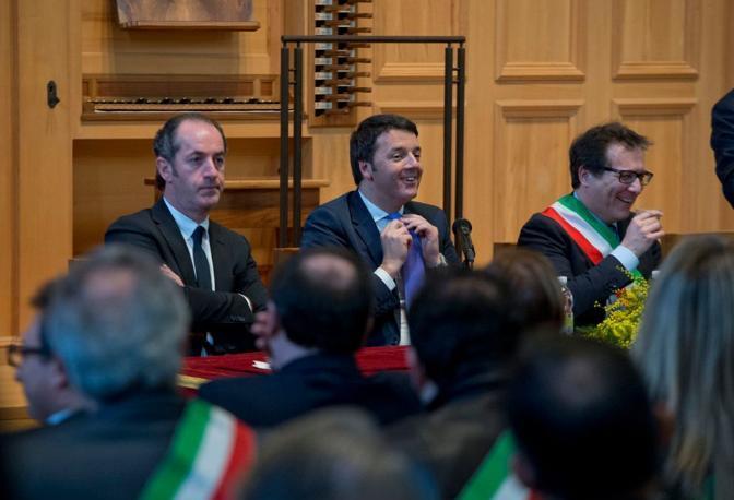 Zaia, Renzi e Manildo