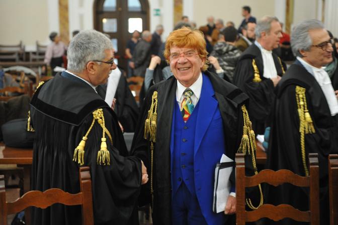 Rovigo, la lettura della sentenza sul processo Enel al tribunale dj Rovigo . L'avvocato Luigi Migliorini
