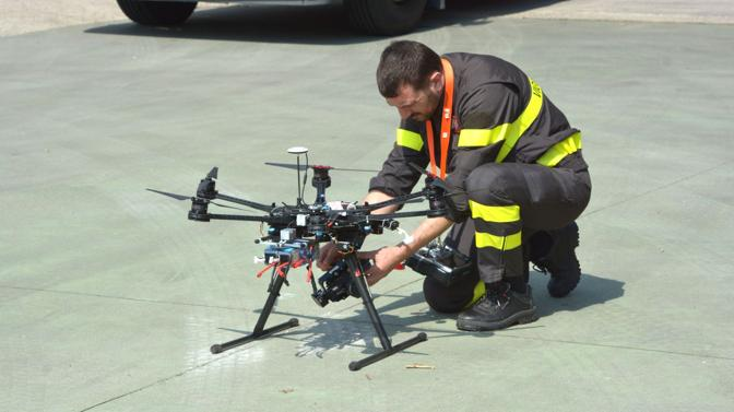 Prova di volo del drone