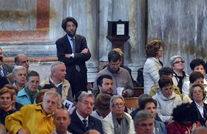 Venezia. Il funerale del patriarca emerito Marco Ce nella basilica di San Marco. Massimo Cacciari