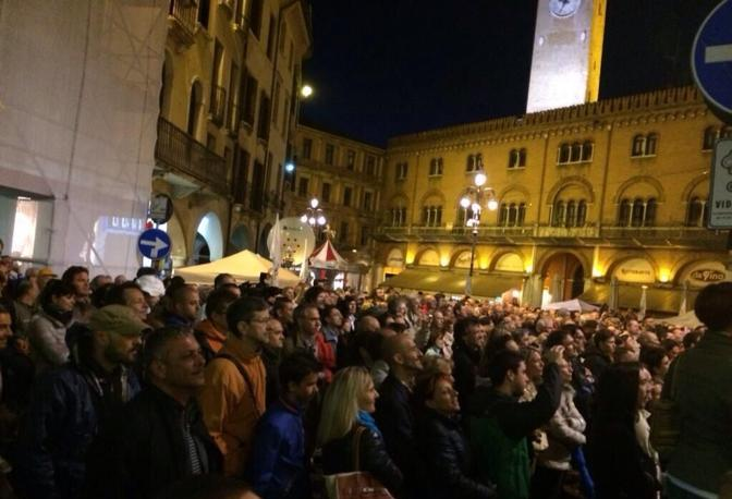 Grillo a Treviso (Twitter)