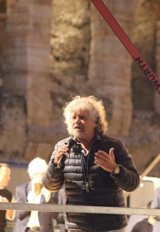Beppe Grillo in piazza Bra