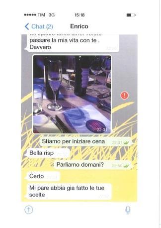 I messaggi con l'ex