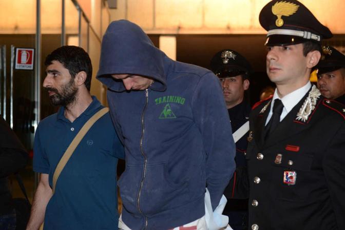 Lorenzo Manavella arrestato alla stazione Santa Lucia di Venezia (Foto Marco Sabadin/Vision)