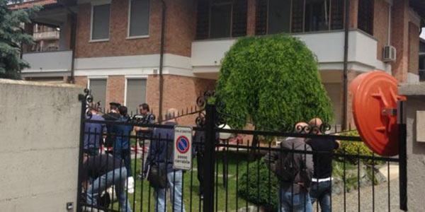La villetta di Santhià (Vercelli) dove sono stati uccisi Tullio e Pina Manavella e la figlia Patrizia (Foto LaPresse)