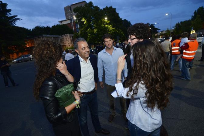 Marco Saia alla festa al PalAlì, in piazza Azzurri d'Italia