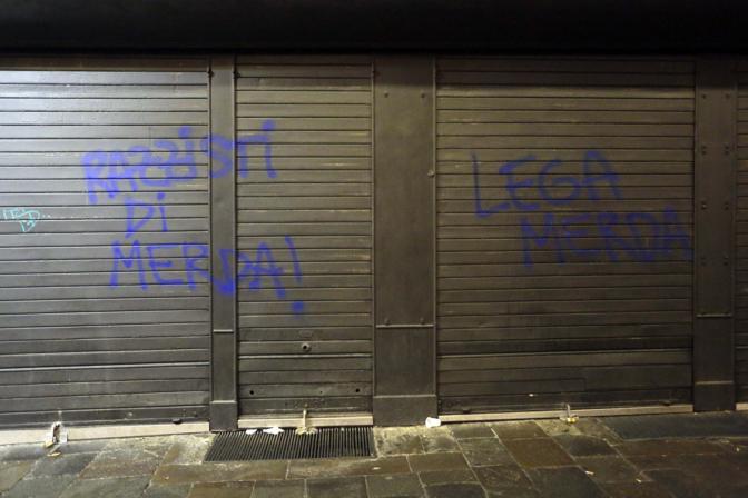 Scritte ingiuriose nella notte contro Massimo Bitonci nella sede elettorale