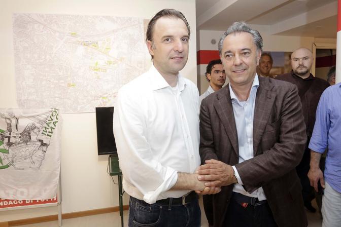 Massimo Bitonci con Maurizio Saia