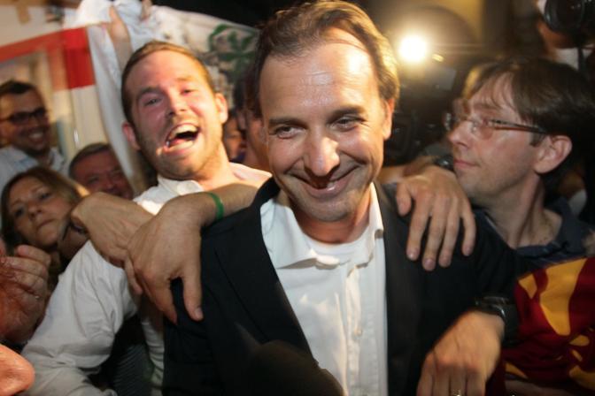 Bitonci festeggia la vittoria