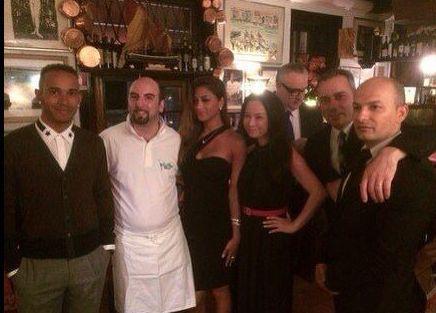 George Clooney a Venezia al ristorante
