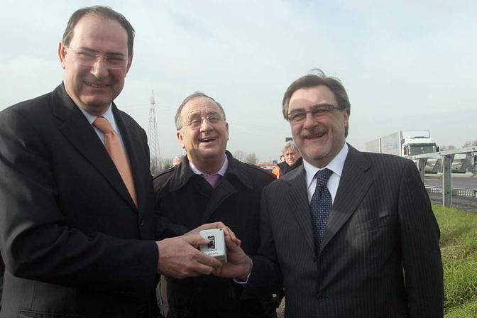 Giancarlo Galan con Lino Brentan e Renato Chisso