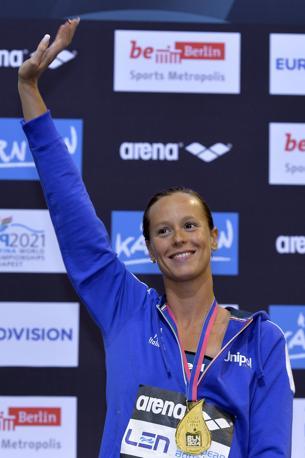Federica Pellegrini, medaglia d'oro sui 200 stile libero agli Europei di Berlino