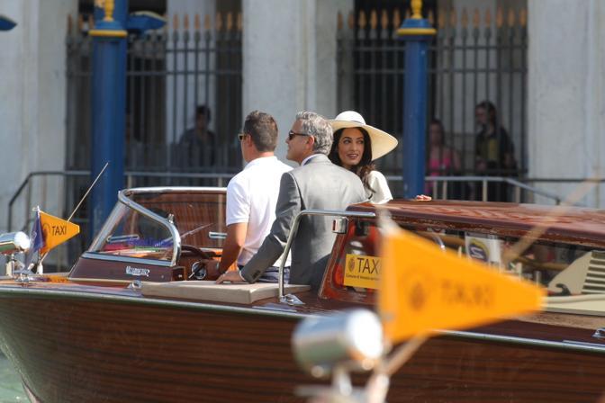 George Clooney e Amal (Toniolo/Errebi)