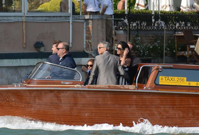 VENEZIA 26/09/14 - Arrivo George Clooney Andrea Pattaro/Vision - Arrivo George Clooney Andrea Pattaro/Vision - fotografo ANDREA PATTARO/VISION