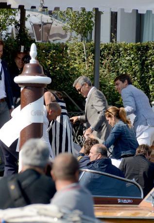 Venezia 26/09/2014 Matrimonio di George Clooney e Amal (c)Andrea Pattaro/Vision - Matrimonio di George Clooney e Amal Arrivo clooney - fotografo Andrea Pattaro/Vision