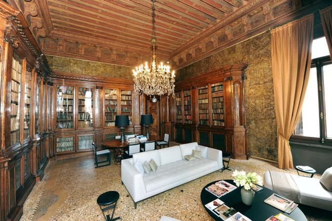 Venezia, hotel Amman resort, la biblioteca