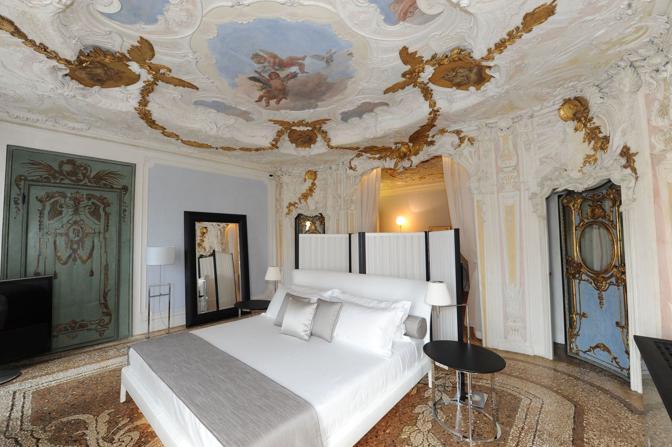 Venezia, hotel Amman resort, la stanza con l'affresco del Tiepolo