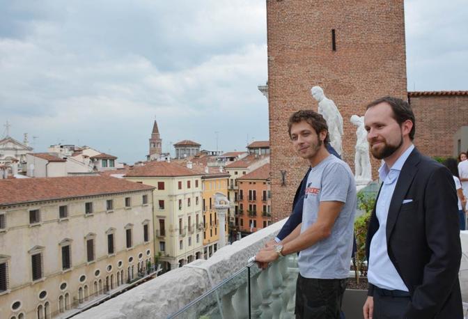 Valentino Rossi alla Basilica Palladiana di Vicenza