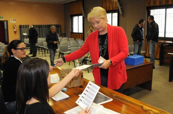 Roncade, Simonetta Rubinato al voto (Paolo Balanza)