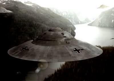 un disegno progettuale di Ufo di Hitler