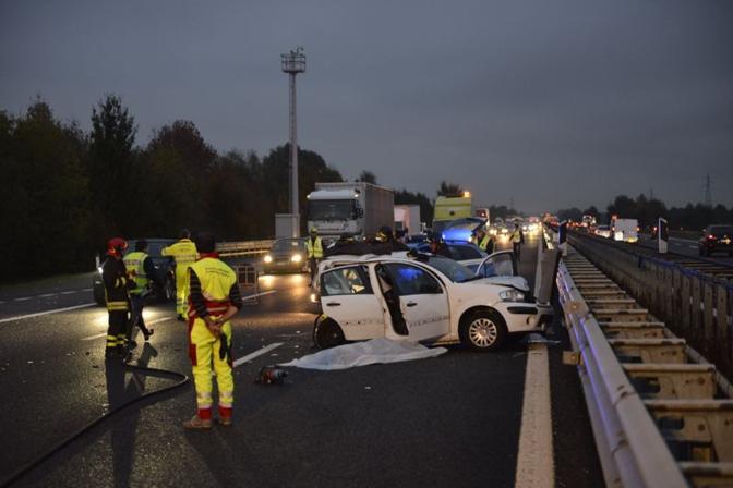 Il luogo dell'incidente (foto Bergamaschi)