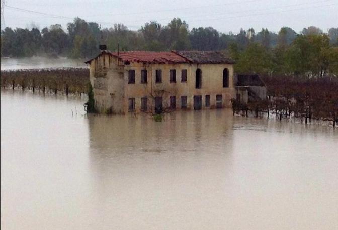 Il fiume Piave all'imbocco di Ponte di Piave (Facebook)