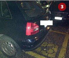 Anche in questo caso le vetture erano prive di qualunque contrassegno, per cui erano posteggiate irregolarmente