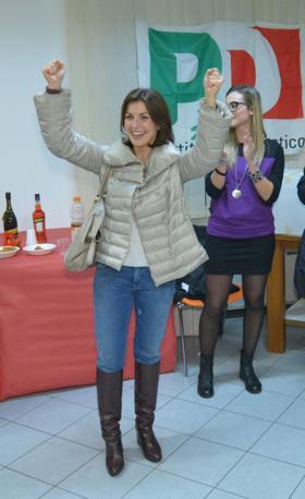 Vicenza, i festeggiamenti di Alessandra Moretti