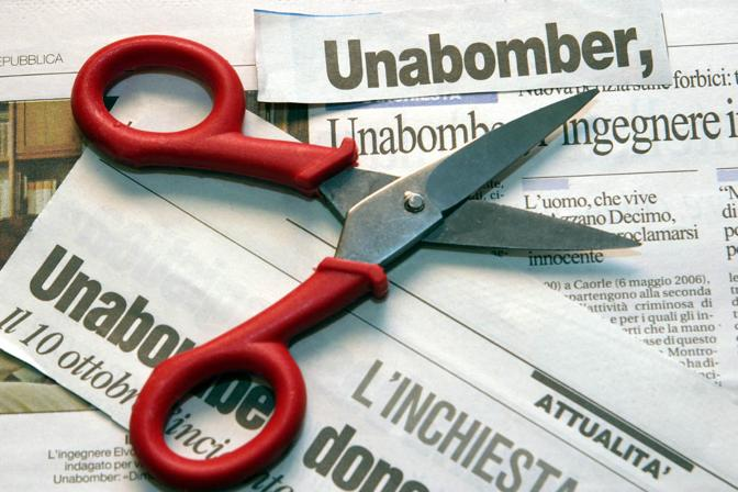 La forbice del tipo usato da Unabomber