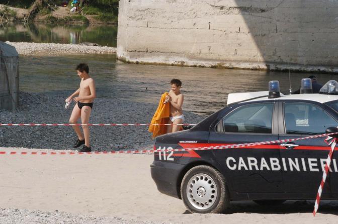 Fagarè della Battaglia, greto del Piave, dove il 25 aprile del 2003 la piccola Francesca Girardi perse la mano per un ordigno di Unabomber