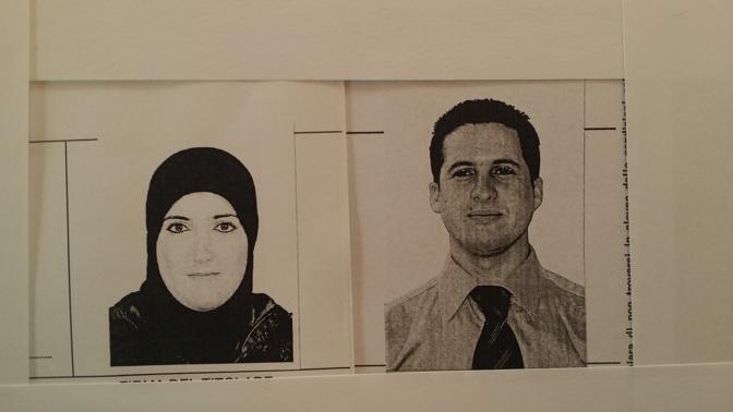 La donna morta nell'incendio. A destra, il marito