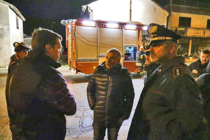 Il sindaco di Casaleone con il capitano della compagnia dei carabinieri di Legnago Provvidenza