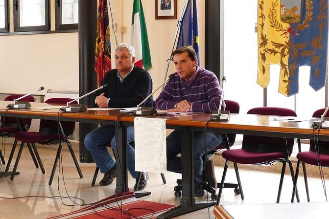Verona Conferenza stampa del sindaco di Casaleone Andrea Gennari