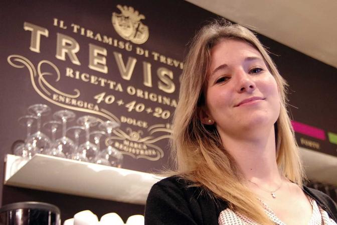 Treviso. Inaugurazione pasticceria Trevissù. La titolare Francesca Polli