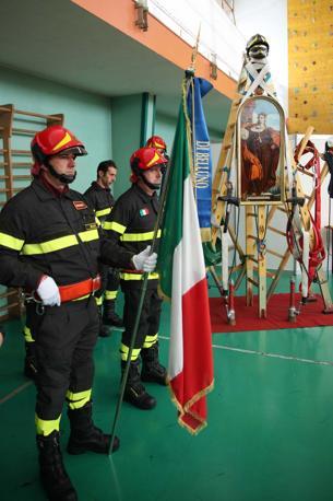 Belluno. Comando provinciale dei Vigili del fuoco. Festa della patrona Santa Barbara (foto Zanfron)