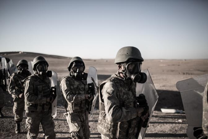 Battaglia a Kobane (LaPresse)