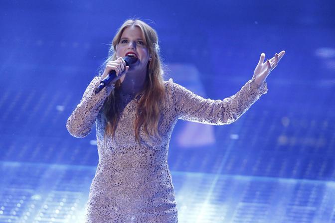 Quarta serata del Festival della canzone italiana a Sanremo. Sul palco, la cantante padovana Chiara