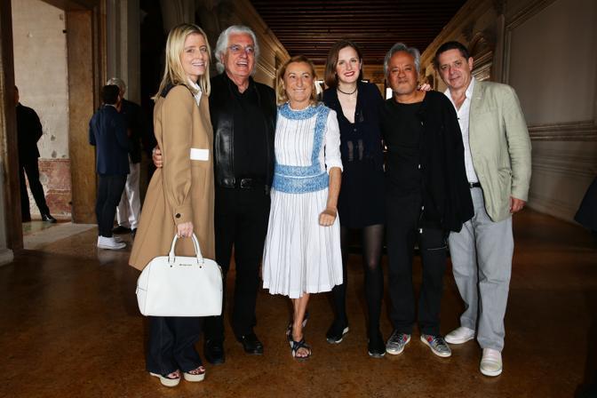 Valentina Castellani Germano Celant Miuccia Prada Sophie Walker Anish Kapoor e Jean De Loisy