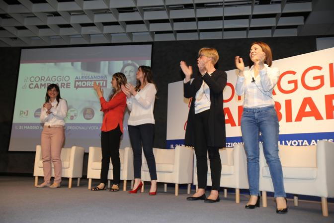 Alessandra Moretti e le ministre a Verona