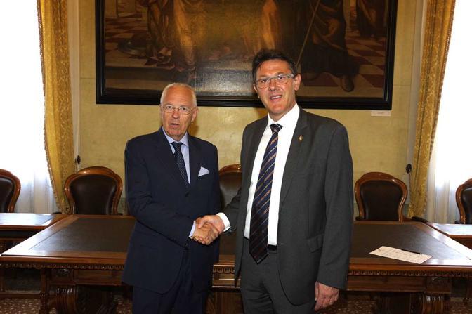 Stefano Marcon con il vicesindaco Gianfranco Giovine