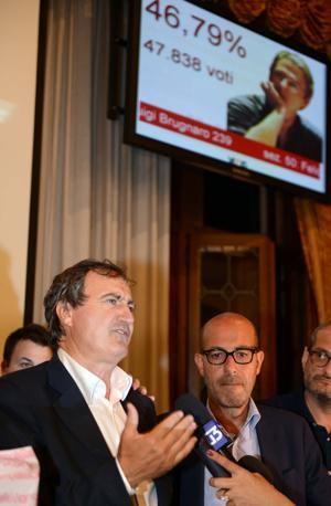 Brugnaro nuovo sindaco a Ca' Farsetti nella notte