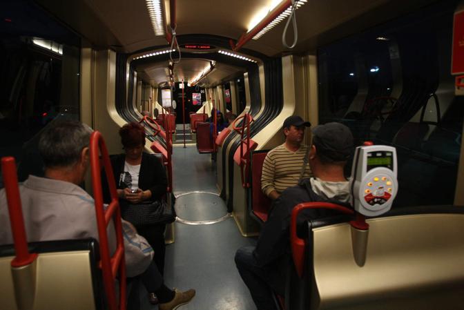 Mestre. Prima corsa del tram con capolinea Venezia