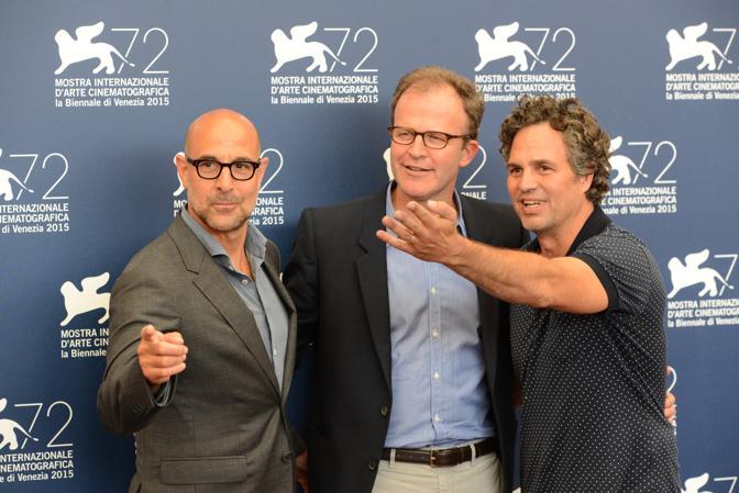 Photocall del film Spotlight di Thomas Mc Carthy con Mark Buffalo e Stanley Tucci