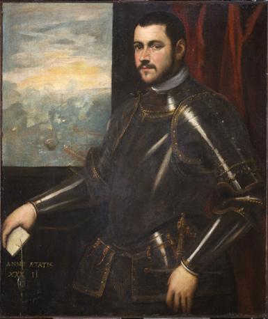 Bottega di Domenico Tintoretto, ritratto di ammiraglio veneziano