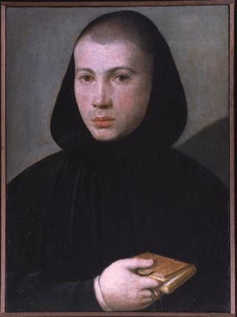 Giovanni Francesco Caroto, ritratto di giovane monaco benedettino